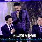 Million jamoasi - Davron Kabulov Ummon guruhini medal bilan taqdirladi