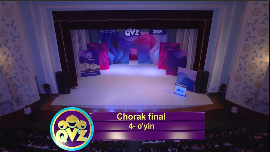 QVZ 2019 Chorak final 4-O'YIN