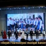 Toshkent viloyati Filarmoniyasi musiqali kansert dasturi
