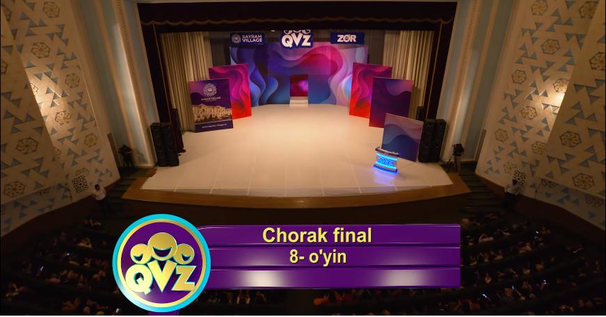 QVZ 2019 Chorak final 8-O'YIN
