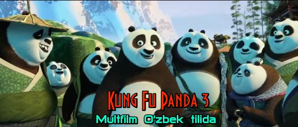 Kung Fu Panda 3 Multfilm O'zbek tilida Full HD formatda