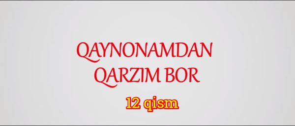 Qaynonamdan qarzim bor Komediya serial - 12 qism
